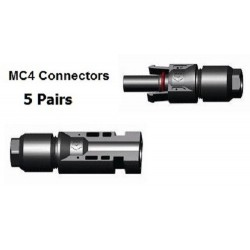 5 x MC4 Male & Female connector pair