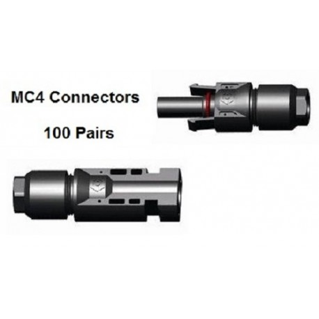 100 x MC4 Male & Female connector pair