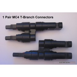 1 x MC4 T Branch Male & Female connector pair