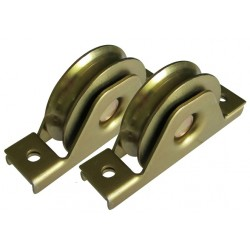 Sliding gate bearing wheels, rollers x 2