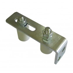 Sliding Gate Roller Guide with Bracket and 2 Nylon Rollers