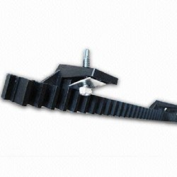 Sliding gate gear rack - 4 lugs - medium duty