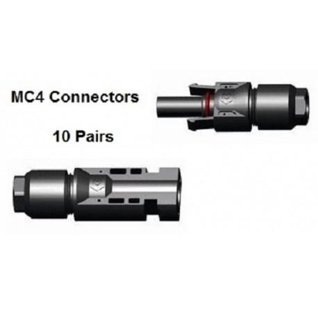 10 x MC4 Male & Female connector pair